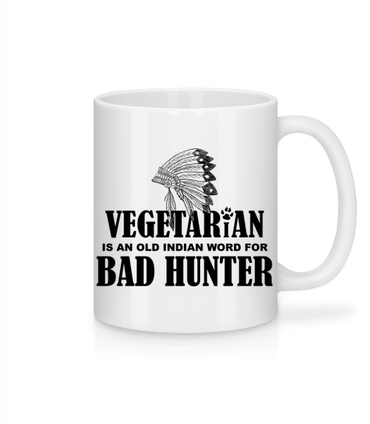 Vegetarian Bad Hunter - Mug - White - Vorn