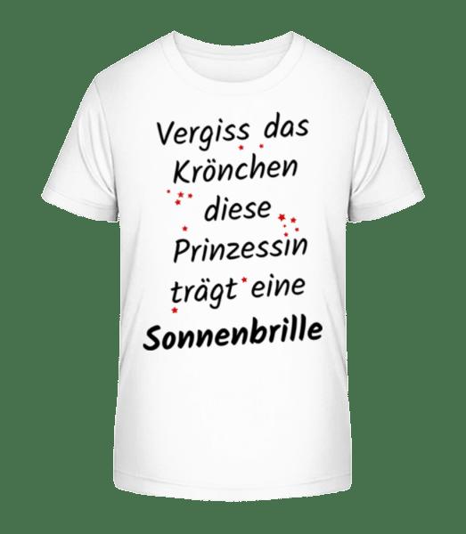 Prinzessin Trägt Sonnenbrille - Kinder Premium Bio T-Shirt - Weiß - Vorn