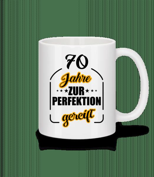 70 Jahre Gereift - Tasse - Weiß - Vorn