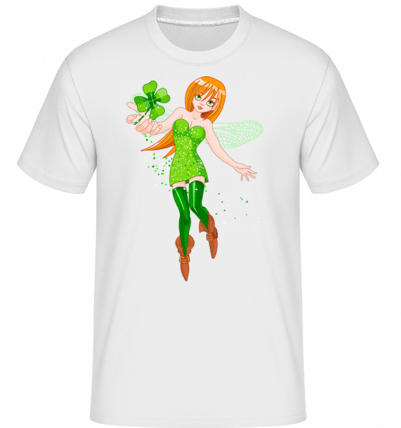 Irish Fairy Logo -  Shirtinator Men's T-Shirt - White - Vorn