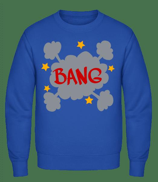 Bang Comic - Classic Set-In Sweatshirt - Royal Blue - Vorn