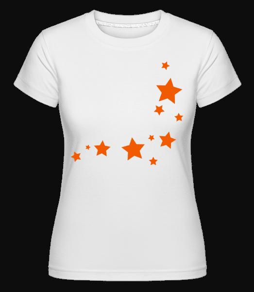 Stars -  Shirtinator tričko pre dámy - Biela - Predné