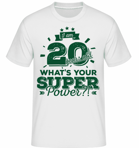 20 Years Super Power -  T-Shirt Shirtinator homme - Blanc - Vorn