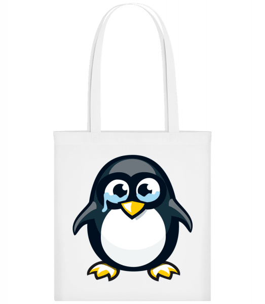 Sad Penguin - Carrier Bag - White - Vorn