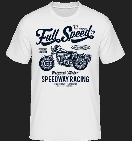 Full Speed -  Shirtinator Men's T-Shirt - White - Front