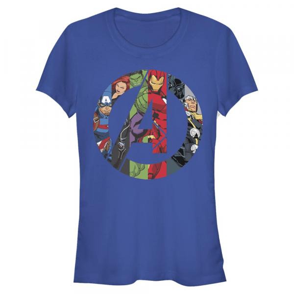 Avengers Heroes Icon Logo - Marvel - Women's T-Shirt - Royal blue - Front