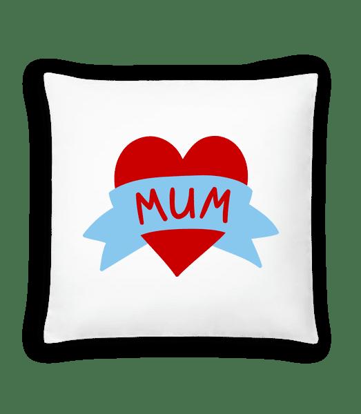 Mum Heart Icon - Cushion - White - Vorn