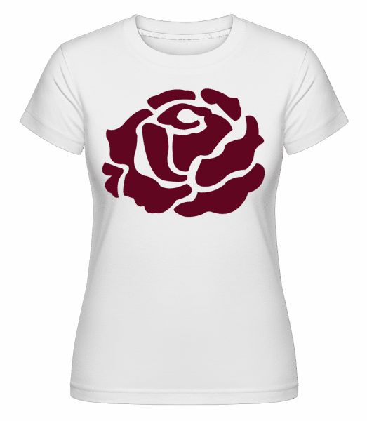 Red Rose -  Shirtinator Women's T-Shirt - White - Vorn