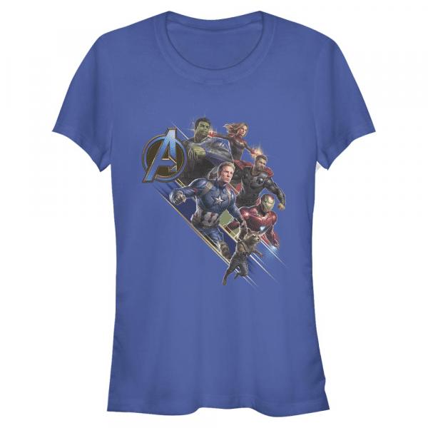 Angled Shot Group Shot - Marvel Avengers Endgame - Women's T-Shirt - Royal blue - Front