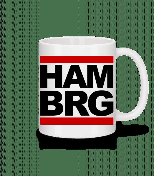 Hamburg Germany - Mug en céramique blanc - Blanc - Devant