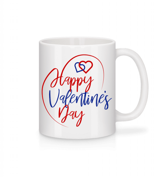 Happy Valentines Day - Mug - White - Vorn