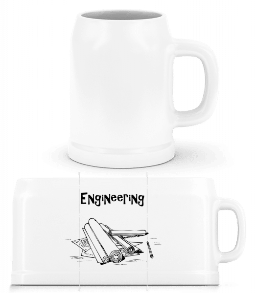 Engineering Symbol - Beer Mug - White - Vorn