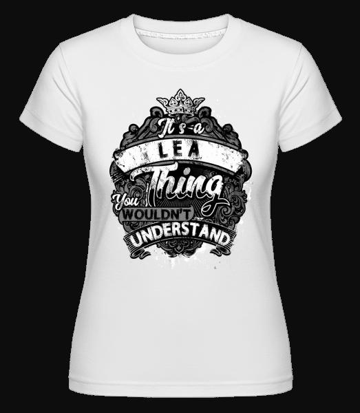 Je to věc Lea -  Shirtinator tričko pro dámy - Bílá - Napřed
