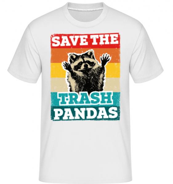Save The Trash Pandas -  Shirtinator Men's T-Shirt - White - Front