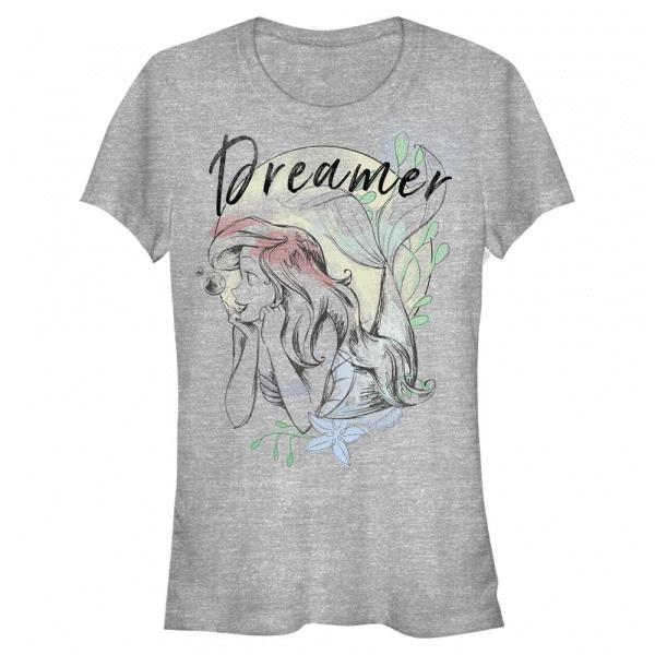 Dreamer Ariel - Disney Ariel morská panna - Dámske Tričko - Melírovo šedá - Predné