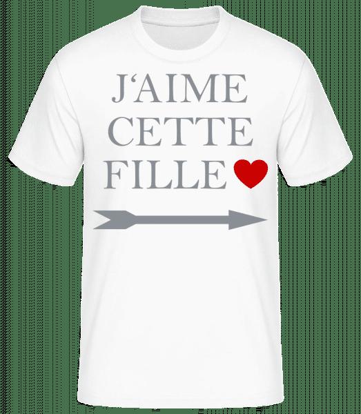 J'Aime Cette Fille - T-shirt standard homme - Blanc - Vorn