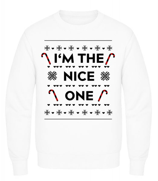 I'm The Nice One - Men's Sweatshirt AWDis - White - Vorn
