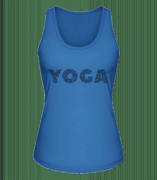 Yoga - Frauen Bio Tank-Top Stanley Stella - Royalblau - Vorn