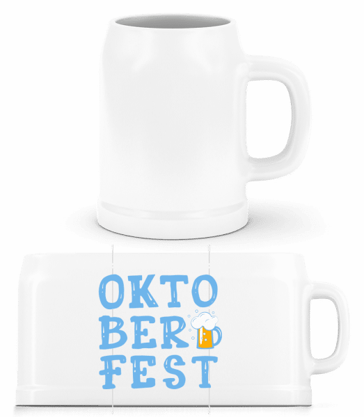 Oktoberfest - Bierkrug - Weiß - Vorn