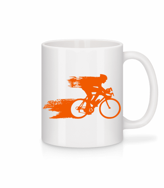 Cyclist - Mug - White - Vorn