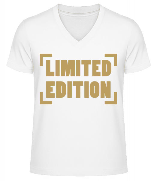 Limited Edition - Men's V-Neck Organic T-Shirt - White - Vorn