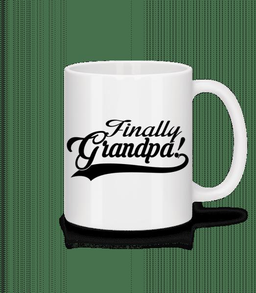 Finally Grandpa - Tasse - Weiß - Vorn