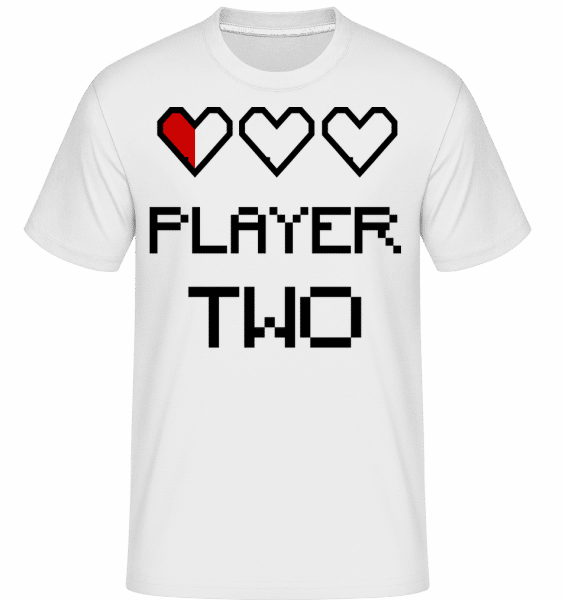 Player Two - Shirtinator Männer T-Shirt - Weiß - Vorn