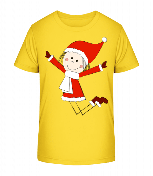Christmas Girl - Kid's Premium Bio T-Shirt - Yellow - Front
