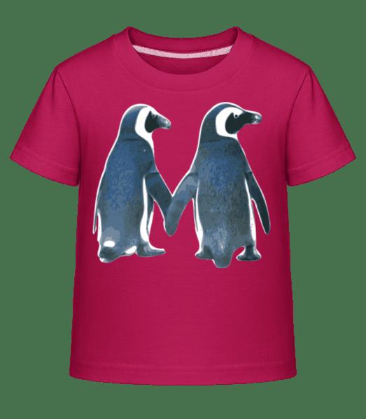 Penguin Couple - Kid's Shirtinator T-Shirt - Magenta - Vorn