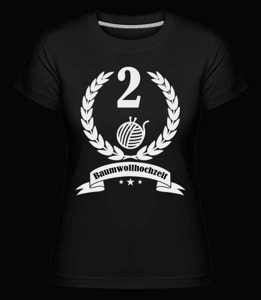 Baumwollhochzeit - Shirtinator Frauen T-Shirt - Schwarz - Vorn