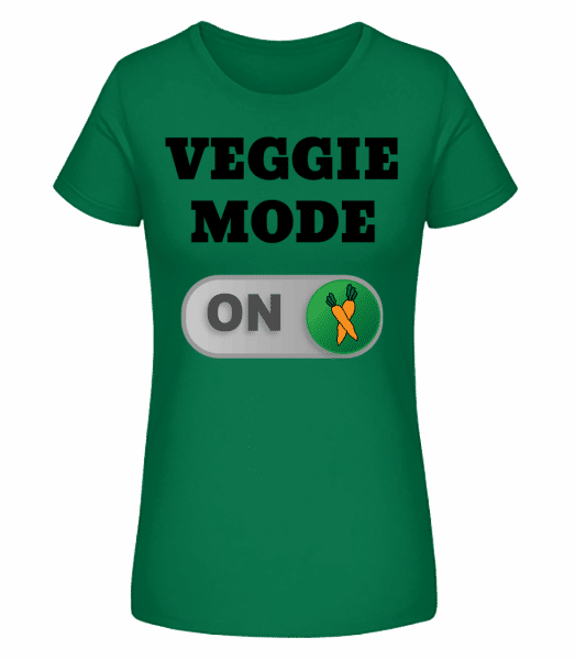 Veggie Mode On - Carrots - Women's Premium Organic T-Shirt Stanley Stella - Emerald - Vorn