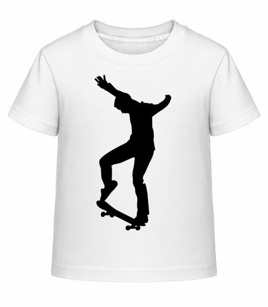 Skater Manual - Kid's Shirtinator T-Shirt - White - Vorn