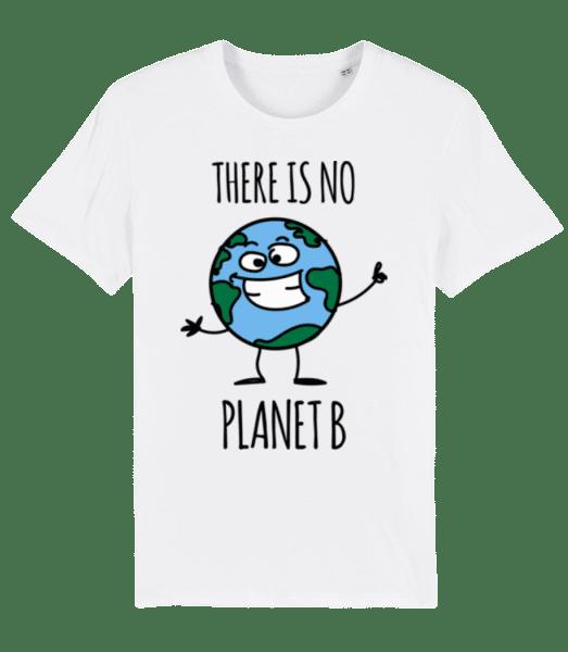 There Is No Earth B - Men's Premium Organic T-Shirt Stanley Stella - White - Vorn