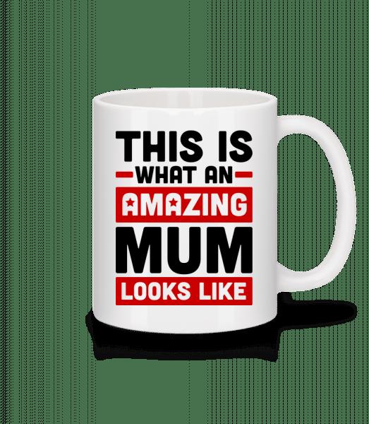 Amazing Mum - Tasse - Weiß - Vorn