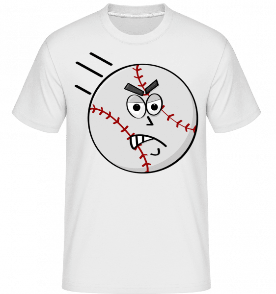 Baseball Smiley -  Shirtinator Men's T-Shirt - White - Front