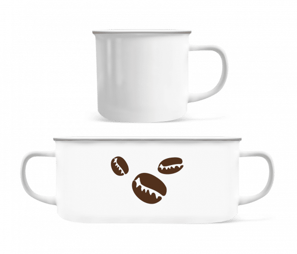 Coffee Beans - Enamel-cup - White - Vorn