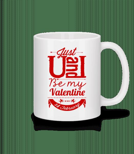 Be My Valentine Red - Mug - White - Vorn