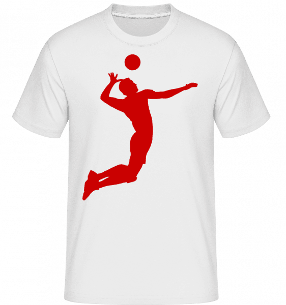 Volleyball -  Shirtinator Men's T-Shirt - White - Front