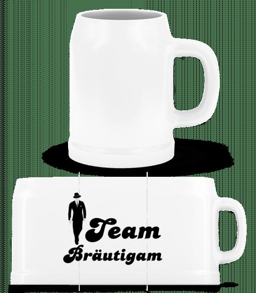 Team Bräutigam - Bierkrug - Weiß - Vorn