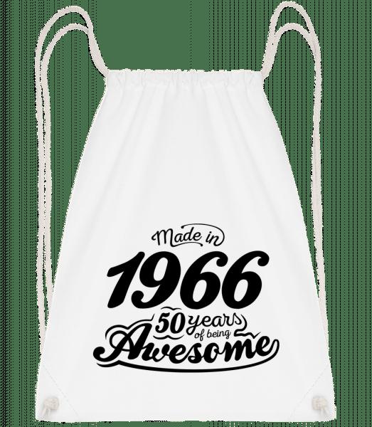 Made In 1966 - Drawstring Backpack - White - Vorn