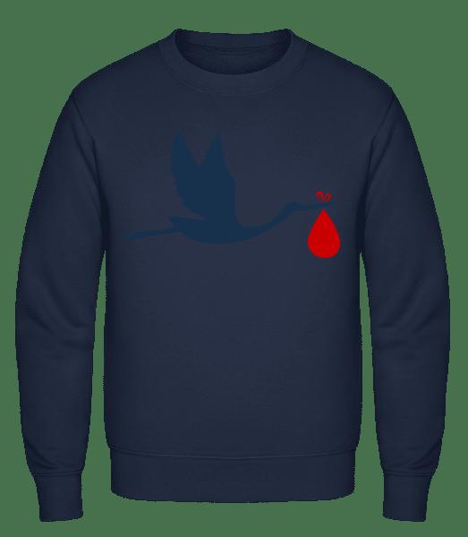 Stork Brings Baby - Classic Set-In Sweatshirt - Navy - Vorn