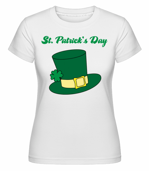 St. Patrick's Day Hat - Shirtinator Frauen T-Shirt - Weiß - Vorn