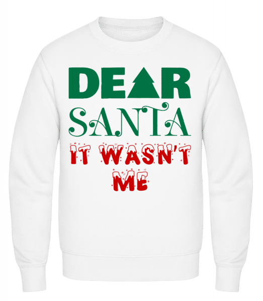 Dear Santa It Wasn't Me - Men's Sweatshirt - White - Vorn