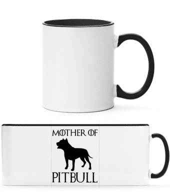 Mother Of Pitbull - Two-toned Mug - White - Front