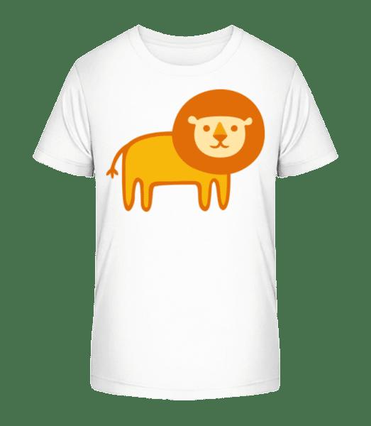 Kids Comic - Lion - Detské Premium Bio tričko - Bílá - Napřed