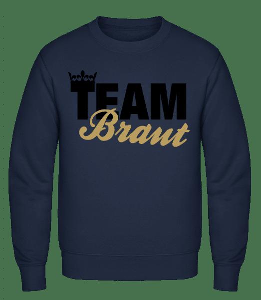 Team Braut Krone - Männer Pullover - Marine - Vorn