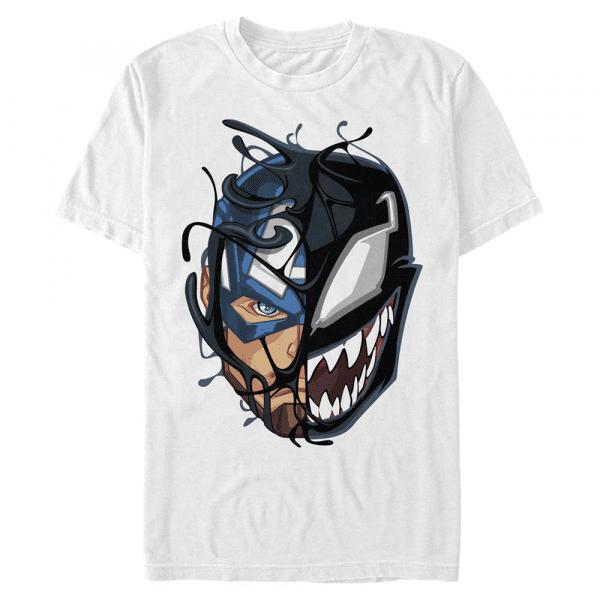 Captain Venom Captain America - Marvel - Men's T-Shirt - White - Front