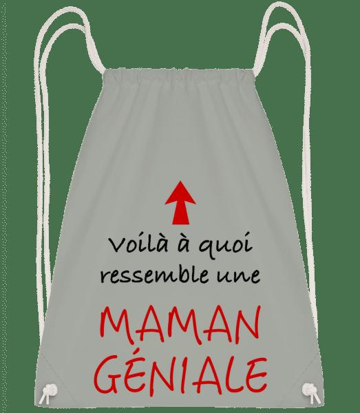 Maman Géniale - Sac à dos Drawstring - Anthracite - Vorn