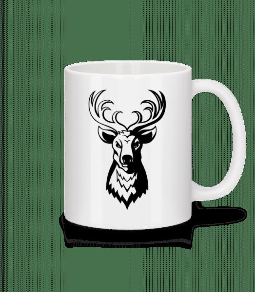 Hirsch - Tasse - Weiß - Vorn