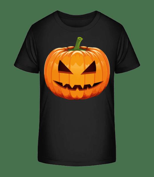 Grinning Pumpkin - Kid's Premium Bio T-Shirt - Black - Vorn